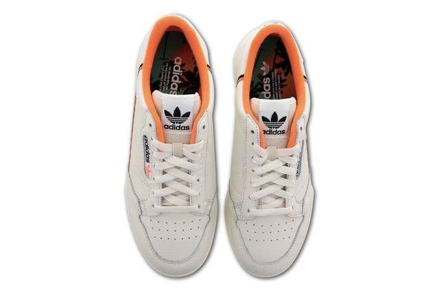 Detectable Interconectar Engaño  adidas Originals' Latest Continental 80 Comes in Clean Beige & Orange  Colorway | Adidas originals, White sneaker, Beige