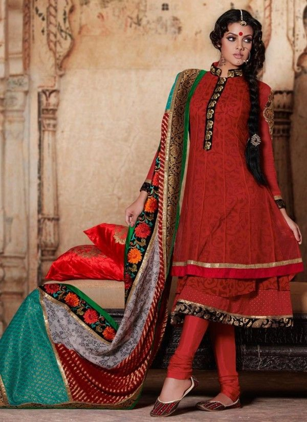 Indian party wear frock style collection for girls