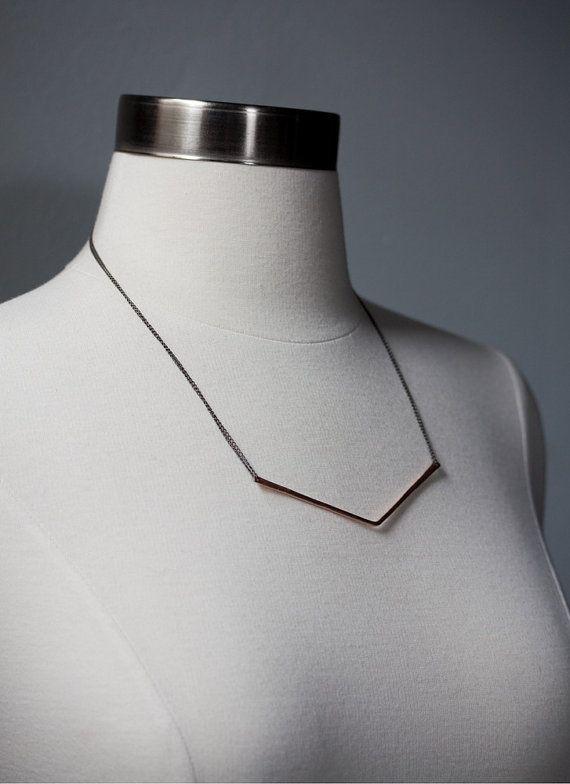 Chevron Halskette-wie Rachel Bilson von LexLuxe auf Etsy