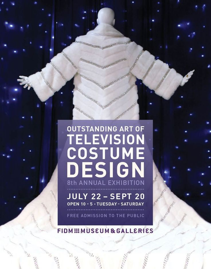 """Poster (featuring fur coat from Liberace movie """"Beyond the Candelabra"""") -- there's an annual film & TV costume summer exhibition in LA at FIDM Museum & Galleries, 919 South Grand Avenue, Los Angeles, California"""