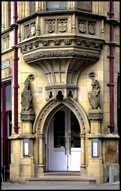 Doorway city centre Manchester UK