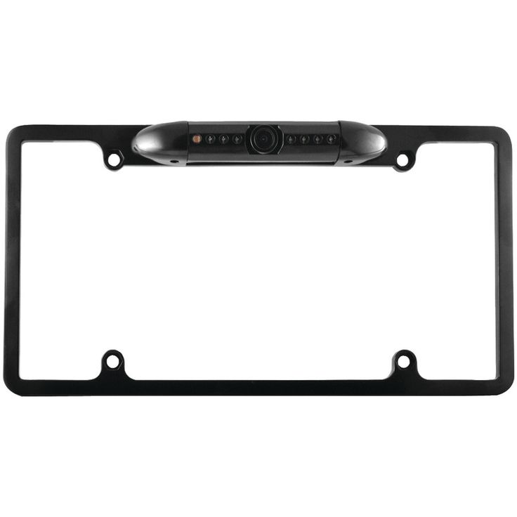 Xovision License Plate Frame Backup Camera With 170deg Wide-angle View (black)
