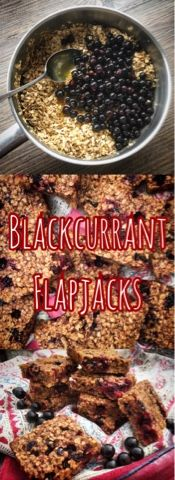 Foodie Quine: Blackcurrant Oaty Flapjacks