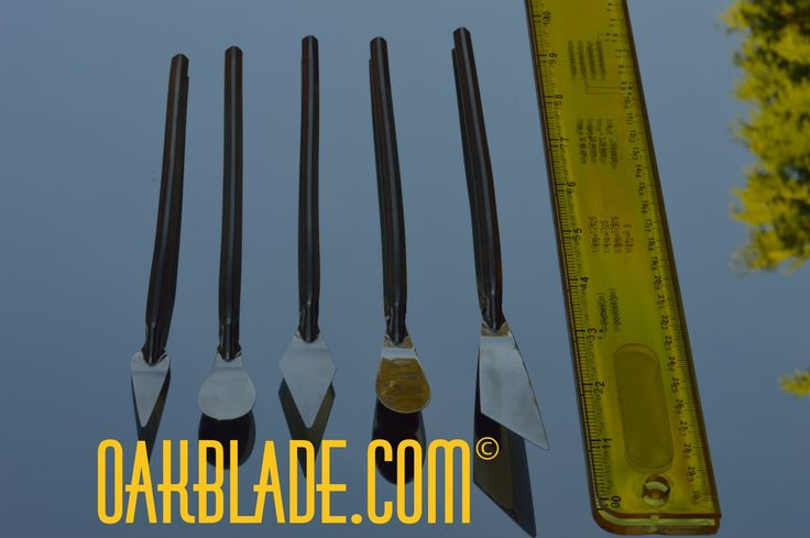 Painters palette knives by Ray Oak Hyder.  Not just another mixing knife. OAKBLADE.COM