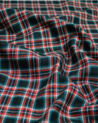 1.8m Brushed Cotton Fabric | Navy Multi Tartan | Truro Fabrics