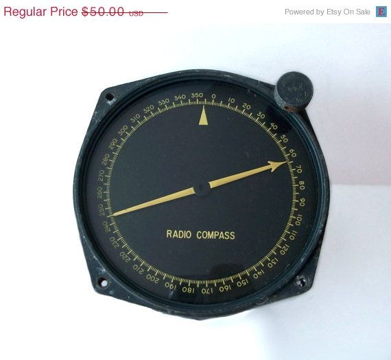 Aircraft Radio Compass Indicator Model by MargsMostlyVintage