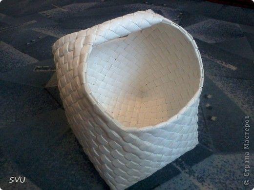 Мастер-класс Плетение: Плетение корзинки из упаковочной (полипропиленовой, стреппинг) ленты Полиэтилен Отдых. Фото 1