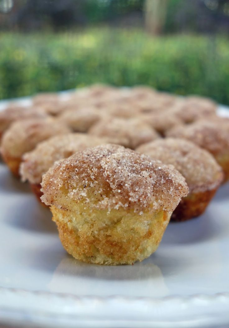 Mini Applesauce Muffins. These were delish! I substituted the white sugar with coconut sugar and used unsweetened applesauce. Also added ground flaxseed. Also don't need all the melted butter it calls for on the topping.