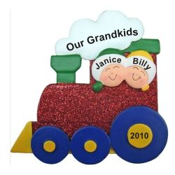 31 best tabletop new baby gifts images on pinterest christmas buy 2 grandkids christmas train ornament personalized christmas gifts decorations by russell rhodes offering exclusive personalized christmas ornaments negle Gallery