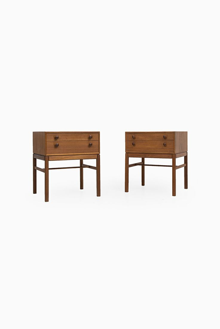 Teak bedside tables by Engström & Myrstrand, more teak bedside tables at Studio Schalling #teak #retro #midcentury