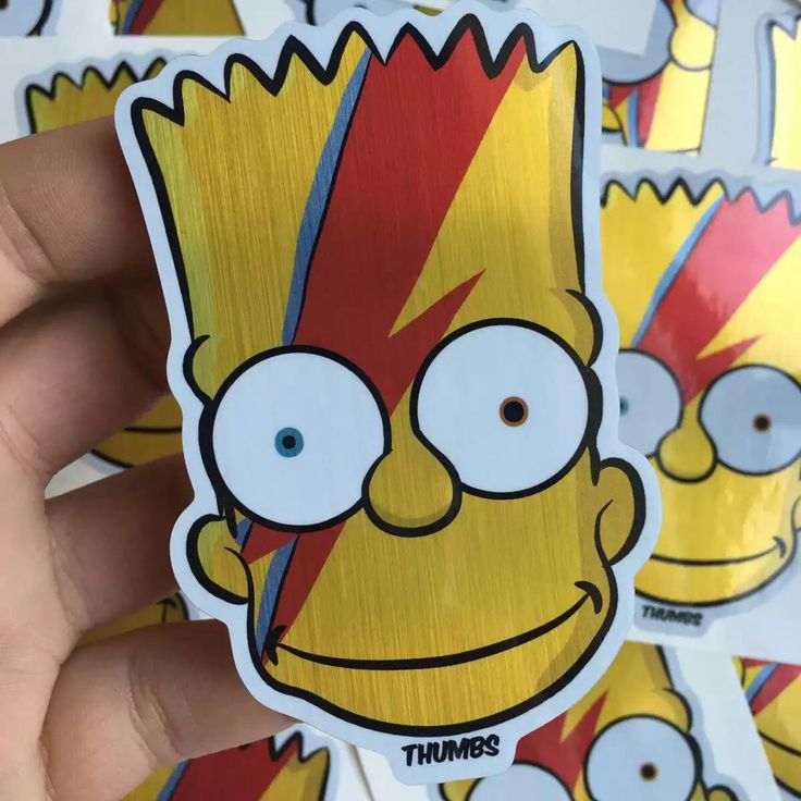 Ziggy bartdust brushed alloy die cut sticker by thumbsdesign