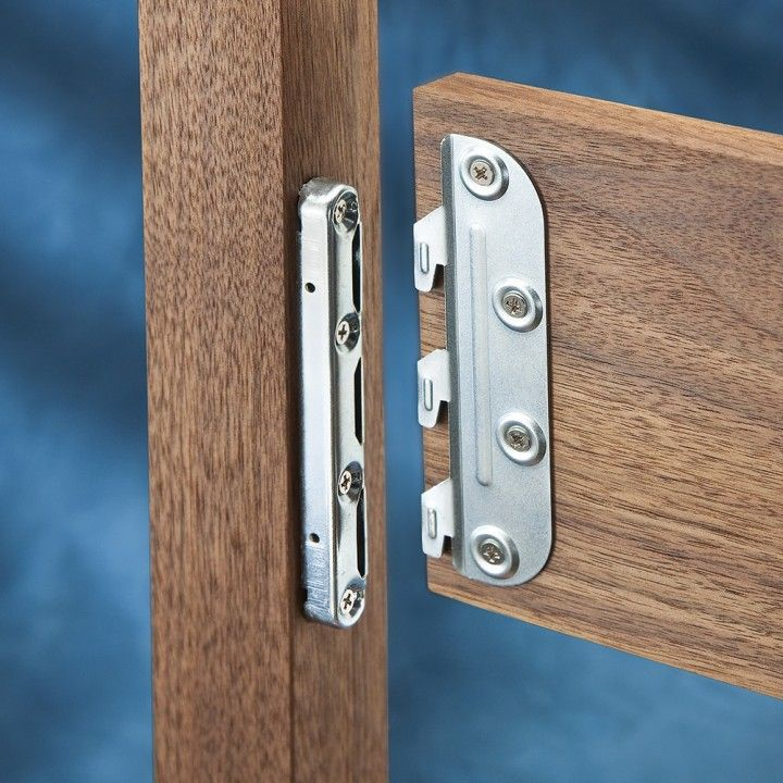 5'' Surface Mounted Bed Rail Brackets - MOUNT to WALL behind BED if you decide not to make the headboard!