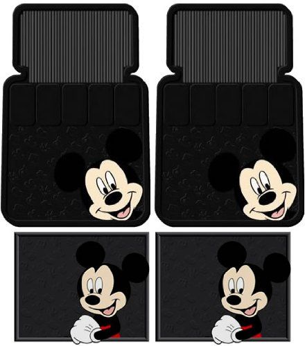 Mickey Mouse Face Car Floor Mats. My husband would die if I got these!!