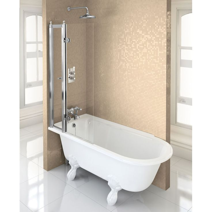 burlington hampton showering bath bathroom city shakespeare shower and screen with rail