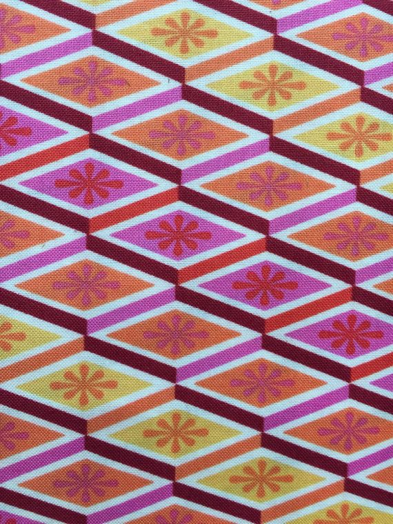 Tula Pink Cotton Woven Fabric 1/2 yd Labyrinth in Peach Fuzz