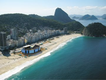 Copacabana Beach, the stage for beach volleyball at the 2016 Rio Olympics