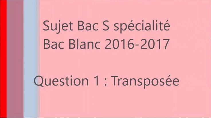Spé maths - Bac blanc 2016-2017 - Question 1 - Transposée de matrice tAxA=O