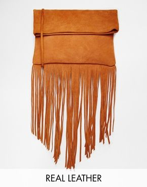 Street Level Suede Fringed X Body Bag