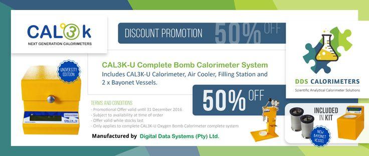 50% off CAL3K-U University Edition Oxygen Bomb Calorimeter - DDS CALORIMETERS