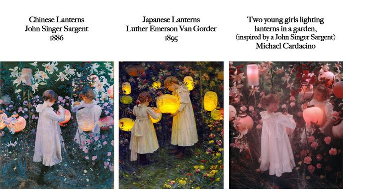 Feels Familiar? John Singer Sargent, Luther Emerson Van Gorder, Michael Cardacino