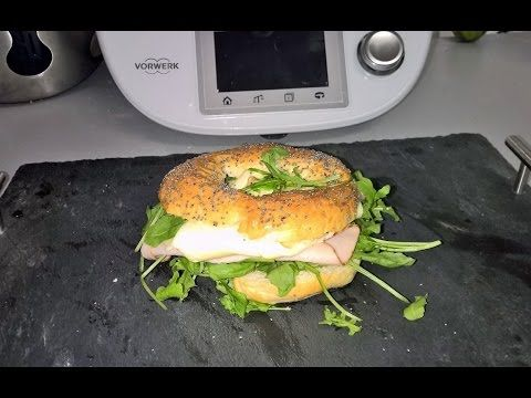 Recette Pain Bagel Thermomix TM5 - YouTube