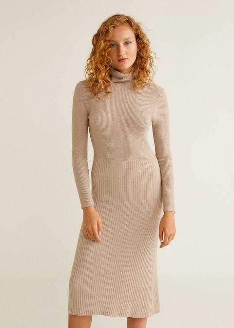 f4647ffaa87b8c Sukienka prążkowana midi - Sukienki dla Kobieta | #needthis ...