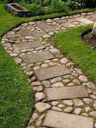 resultado de imagen para caminos de piedra para jardines
