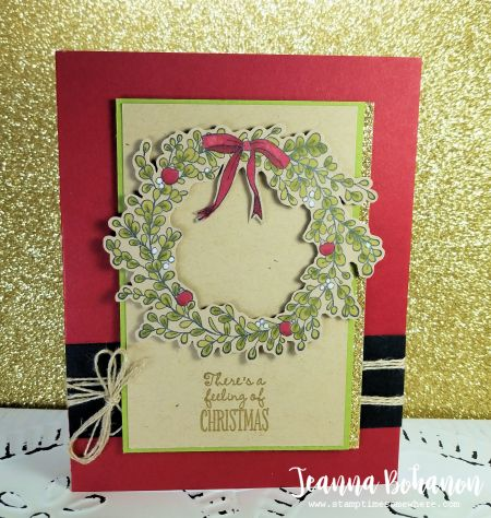 Fancy Friday! Stampin' UP! Feeling of Christmas,  card sketch. By Jeanna Bohanon