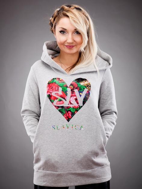 LV Heart Hoody Grey #Slavica #Cleo #urbancity