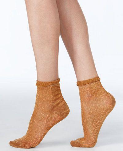 Free People Glimmer Oasis Sheer Ankle Socks