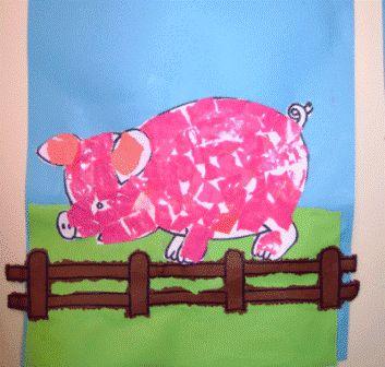 * Scheuren! Vul een afbeelding (kleurplaat) van een dier op met gescheurde stukjes papier.