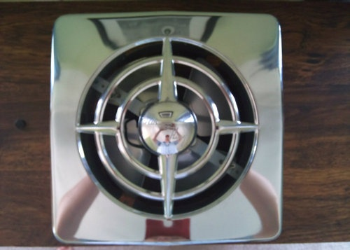 "BERNS AIR KING 10"" SIDE WALL KITCHEN EXHAUST FAN. What my folks had in their '58 house. Worked great. Sold for over $300 on ebay."