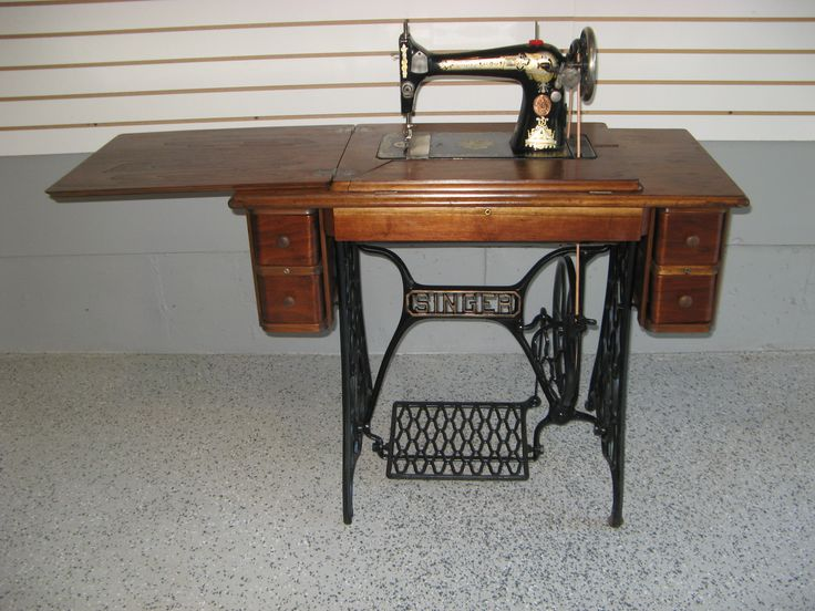 antique sewing machine cabinet restoration