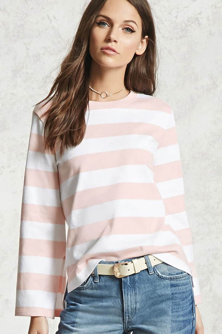 J2017  Striped Boxy Top