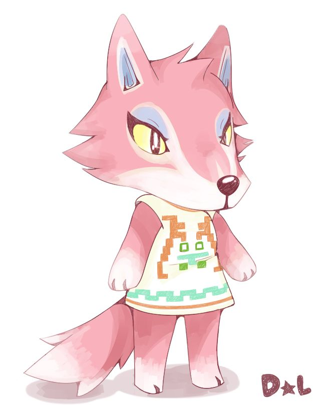 """razzytaffy: """" Practice for a new style on one of my favourite villagers from Animal Crossing: Freya! It's not much, and I apologize, but I hope you like this style as much as I do! I'll be trying to..."""