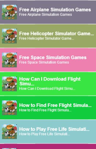 simulation games for free<br>In this App you can see this topic.<br>1. Free Airplane Simulation Games<br>2. Free Helicopter Simulator Games<br>3. Free Space Simulation Games<br>4. How Can I Download Flight Simulation Games<br>5. How to Find Free Flight Simulator Games Online<br>6. How to Play Free Life Simulation Games<br>7. How to Play Free Train Games Online<br>8. How to Play Simulation and Strategy Games on the PC for Free<br>9. Simulation Games for the Commodity Market<br>10. Stock…