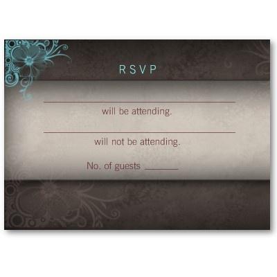 Marrom azul de turquesa do cartão de resposta do c cartões de visitas por BestCards