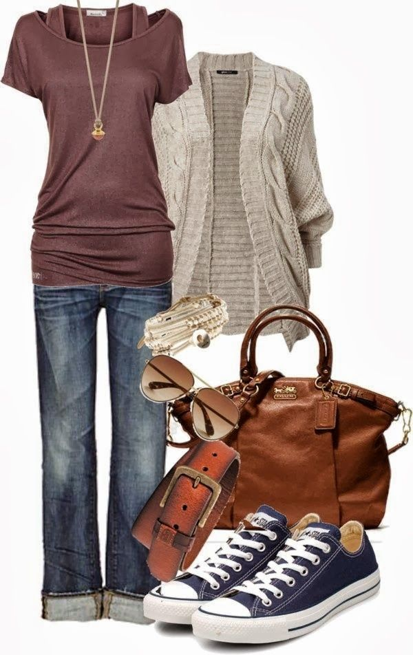 I'd like the top, cardigan, and shoes!