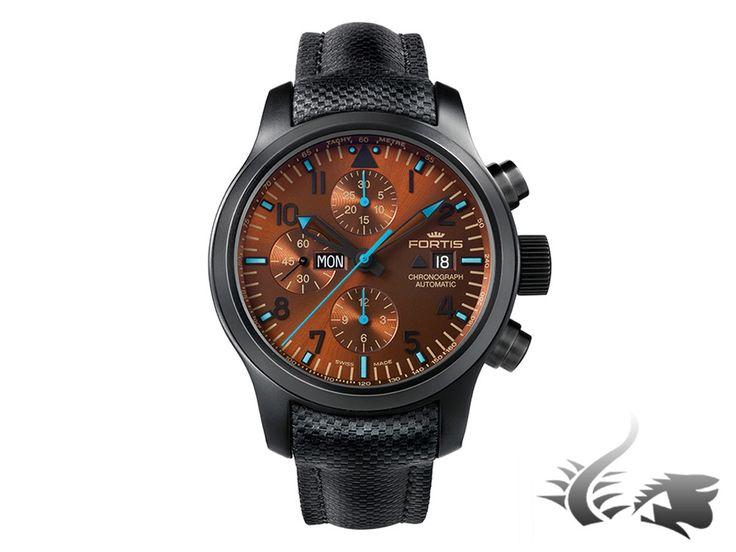 Fortis Blue Horizon Chronograph Automatic Watch, ETA 7750, PVD, Limite | Iguana Sell