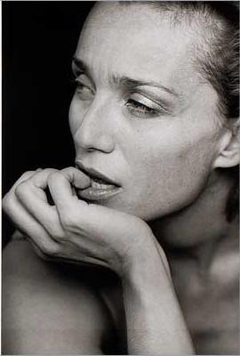 """photo noir et blanc : Peter Lindbergh, """"Kristin Scott Thomas"""", actrice de cinéma UK"""