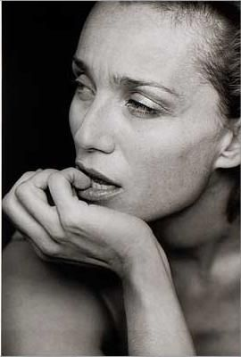 Kristin Scott Thomas (°1960) - photo by Peter Lindbergh (comercial for Tag Heuer watches)