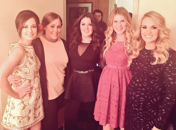 Pregnant Carrie Underwood Shows Off Growing Baby Bump During Girls' Night Out at the Grand Ole Opry