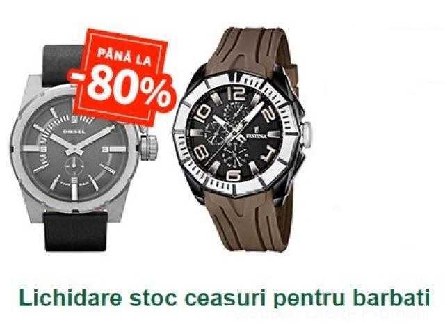 Pana la -80% Reducere. Lichidare stoc ceasuri pentru barbati | Reduceri Oferte si Promotii in Romania | Ceasuri Barbati
