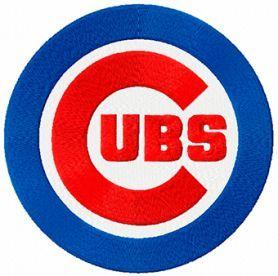 Chicago Cubs logo machine embroidery design $2 embroideres.com