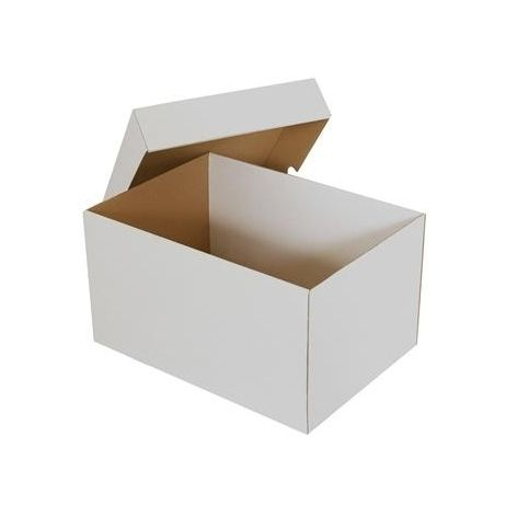 30,7x22,2x17 cm Krabice s víkem pro A4 bílá
