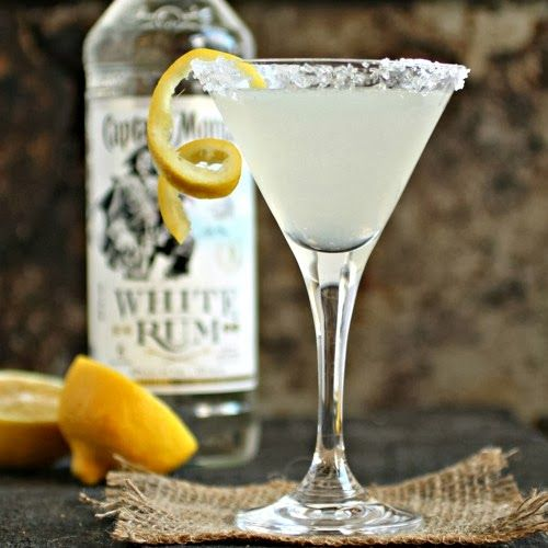 lemon drop daiquiri 2 oz. White Rum 1 oz. Fresh lemon juice 1/2 oz. Triple Sec 1/2 oz. Simple syrup