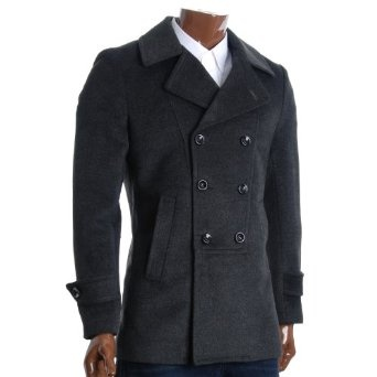 http://amzn.to/10l827t: FLATSEVEN Mens Designer Double Breasted Winter Coat Wool Blends (CT214): Clothing