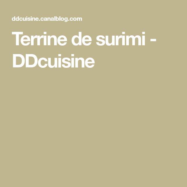 Terrine de surimi - DDcuisine