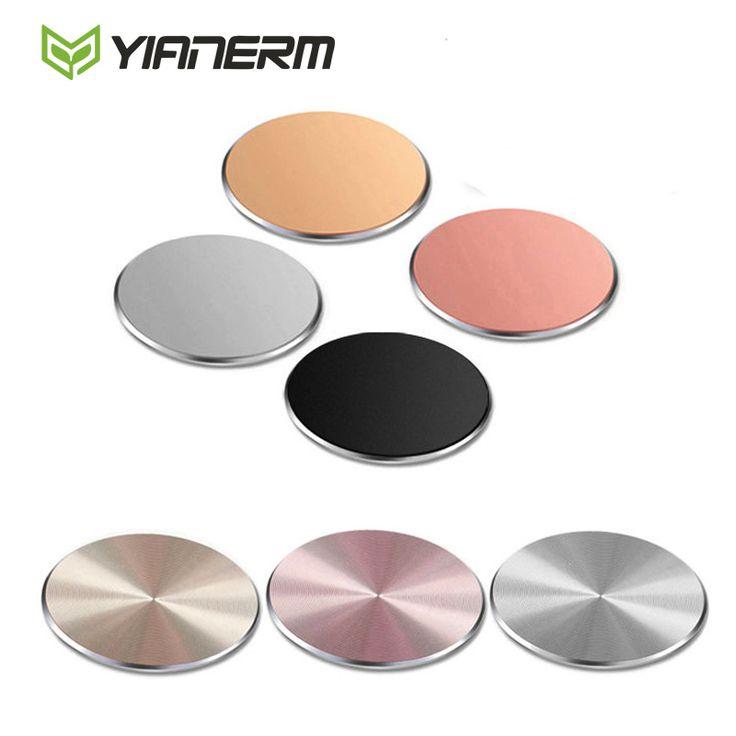 Yianerm 32*32mm Placa de Metal Magnético Soporte Del Teléfono Sostenedor Del Teléfono Del Coche Accesorios de Uso Para Imán