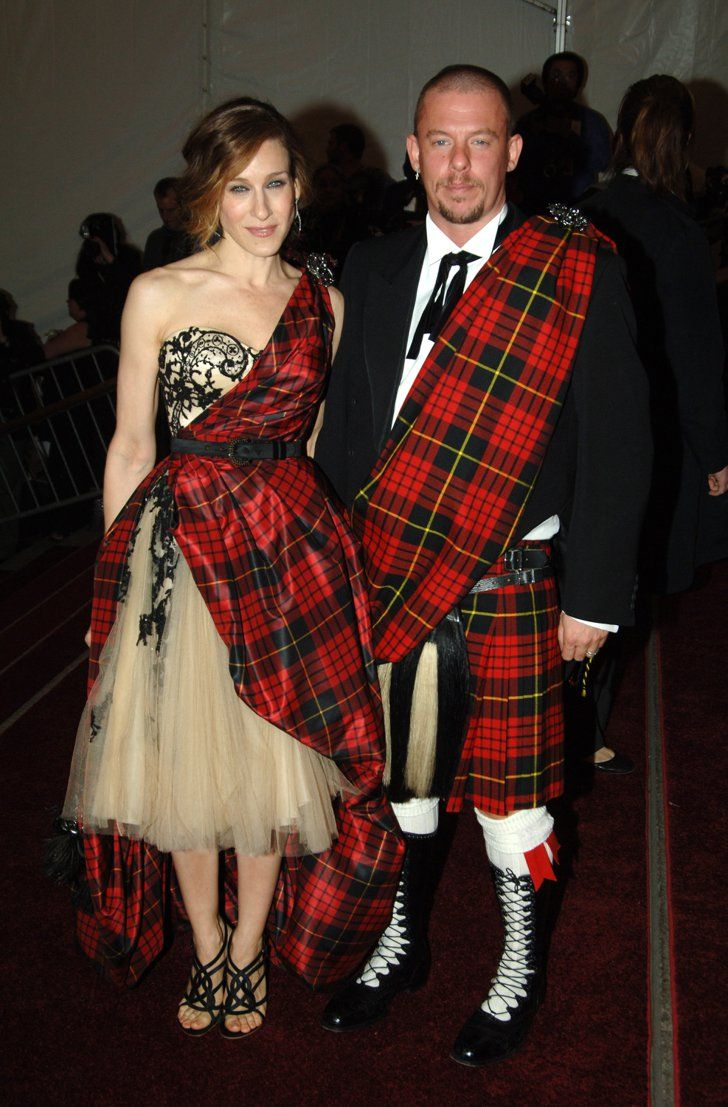 Pin for Later: See 100+ Insanely Gorgeous Looks From Met Galas Past Sarah Jessica Parker Sarah Jessica Parker attended the 2006 gala with the late Alexander McQueen — the pair wore matching tartan prints.